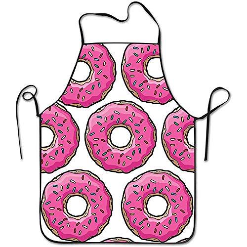 GWrix Unisex Pink Simpsons Donut Restaurant Home Küche Kochen Schürze Kochen,Grill Backen Verstellbarer Halsriemen
