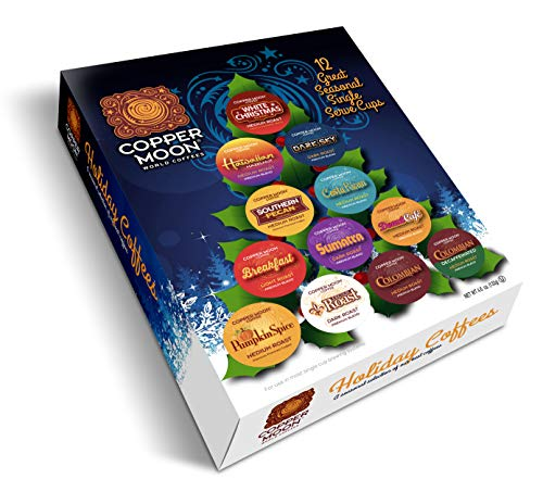 Copper Moon Single Serve Cup Coffee Seasonal Holiday Variety Pack - 12 Count