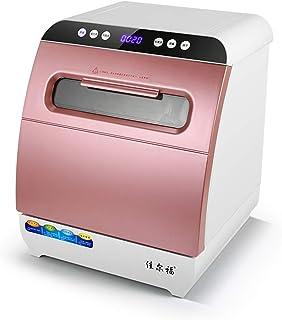 Dishwasher Instalación Gratuita de lavavajillas de Escritorio doméstico 6 Capacidad de vajilla 4 Modos hacia Arriba y hacia Abajo Pulverizador Tridimensional Lavavajillas Descubierto Botón táctil