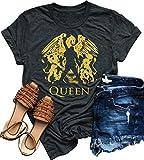 Camiseta de manga corta para mujer, diseño de Freddie Mercury - - Large