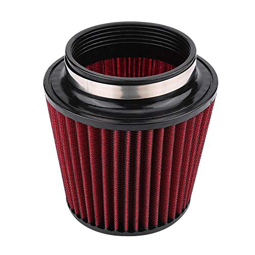 Auto Luftfilter, Universal Sportluftfilter Luftfilter Universal Car Modification Einlass-Lufteinlass-Kegel-Luftfilterreiniger mit hohem Durchfluss(100mm)