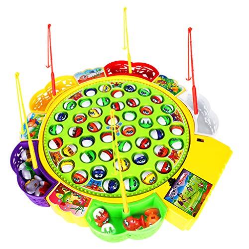 F Fityle Elektrisches Fisch Angeln Spielzeug, Elektro Angelspiel Musikalisches Kinderspielzeug - # A
