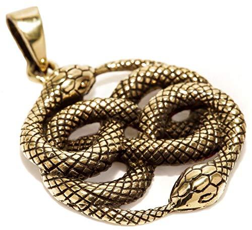 WINDALF Zauber Anhänger AURIN Ø 2.5 Schlangen Schmuck Bronze