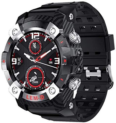 Reloj inteligente para hombres con Bluetooth inalámbrico 360 * 360 Hd pantalla 2 en 1 reloj inteligente para Android iOS B