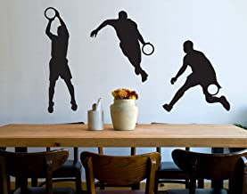 universumsum Muursticker Basketbal Serie Creme 50 x 62 cm wal236-50-837 Muursticker Muursticker Kinderkamer zelfklevend