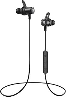 SoundPEATS Bluetooth Earphones, Wireless 5.0 Magnetic Earbuds, In-Ear IPX6 Sweatproof Headphones with Mic (13 Hours Playti...