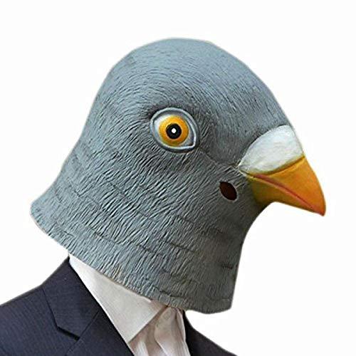 XWYWP Halloween Maske Taube Maske gruselig Latex Halloween Maske Tier Kostüm Theater Requisiten Neuheit Gummi Masken