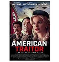 アメリカの裏切り者:軸サリーの試練ホットクラシック映画カバー壁アートキャンバス絵画ポスター額縁ギフト-60x80cmフレームなし