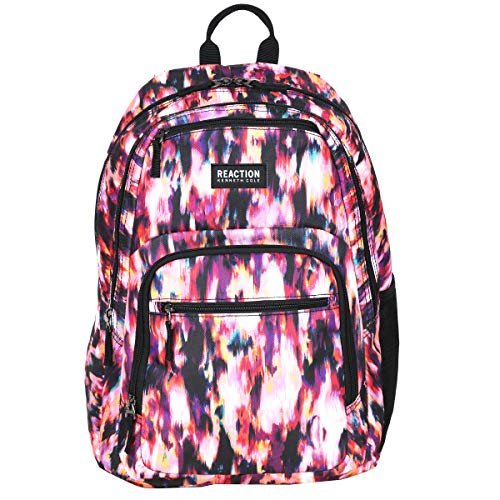 """Kenneth Cole Reaction Printed Dual Compartment 16"""" Laptop & Tablet Backpack for School, Travel, Work, Ikat, Laptop"""