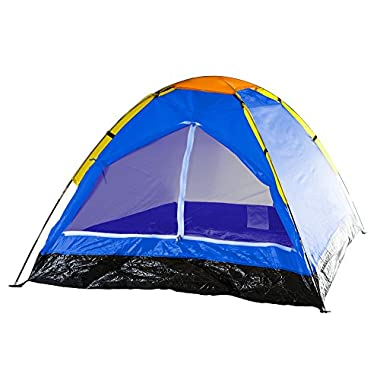 Happy Camper 2-Person Tent, Dome Tents for Camping with Carry Bag by Wakeman Outdoors (Camping Gear for Hiking, Backpacking, and Traveling) - BLUE