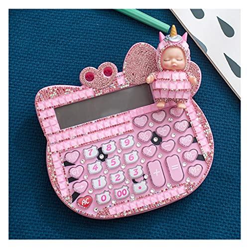 calculadoras Calculadora De Voz Linda Calculadora Creativa De Moda De 12 Dígitos Pantalla De Pantalla LCD Grande para Regalos Calculadoras Básicas (Color : Pink)
