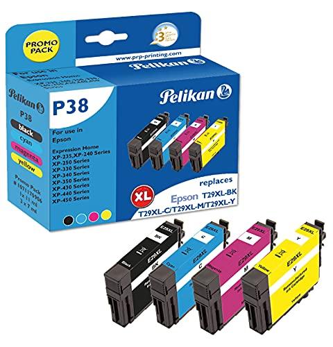 Pelikan Cartucho de tinta, reemplaza a Epson T29XL adecuado para EPSON Expression Home XP-235 XP-332 XP-335 XP-432 XP-435 XP-245 XP-342 XP-345 XP-442 XP-445 XP-247 XP-257 XP- 255 XP-352 XP-355 XP-452