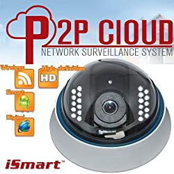 iSmart New Wireless WiFi HD IR Dome IP Smartphone CCTV Security Camera with NightVision