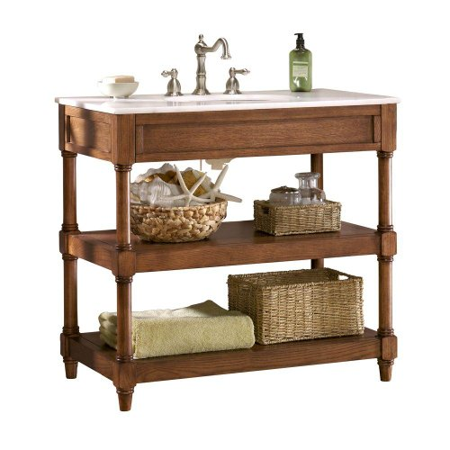 "Home Decorators Collection Montaigne Bath Vanity, Open 37"" W, Weathered Oak"