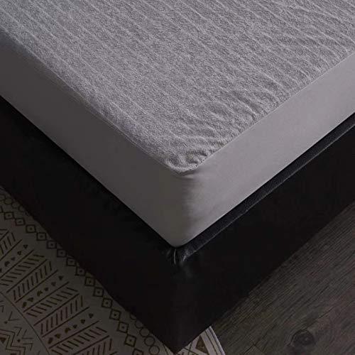 BOLO Sábana bajera de franela de algodón cepillado o fundas de almohada, de lujo, termal, suave y acogedor, transpirable, lavable a máquina, 180 x 200 + 25 cm
