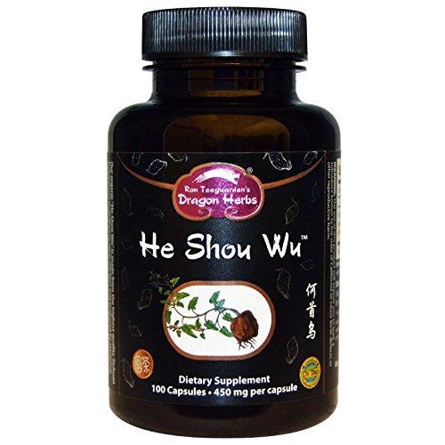 Dragon Herbs – Suplemento alimenticio He Shou Wu, 500mg, 100cápsulas