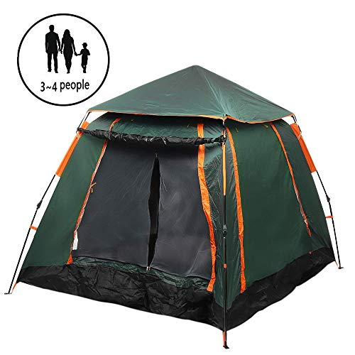 ZYLEDW Instant Pop Up Tent, Automatic Portable Dome Tent for 3-4 Person, Outdoor Sun Shelter With Carry Bag UV Protection Suitable for Family Garden/Camping/Fishing