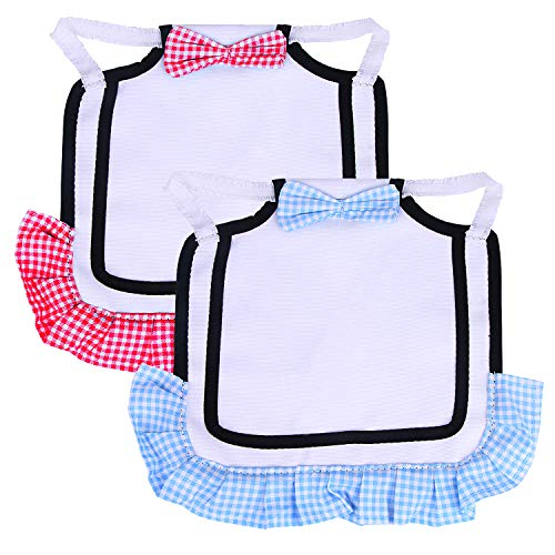 Petknows 2 Pack Chicken Saddle Hen Apron with Good Elasticity Straps Suitable for Small, Medium and Large Hens, Protect Hens from Infection Products, Hen Supplies(Red/Blue)