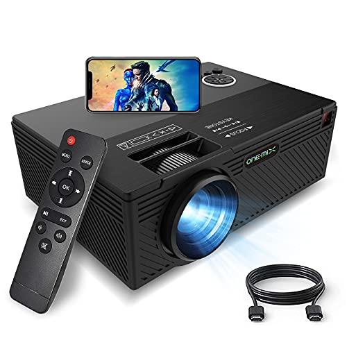 ONE·MIX Mini-Beamer, Mini-Projektor Outdoor-Filmprojektoren, 1080P kompatibel mit Fire Stick TV, tragbarer Heimkino-LED-Projektor, Videoprojektor, HDMI, USB, TF, AUX, AV (Black)