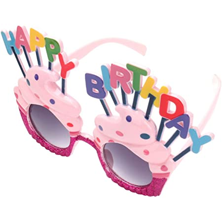 4 Pack Happy Birthday Party Glasses Sweet Cream Cake Glasses Novelty Decoration for Birthday Gift Party Supplies