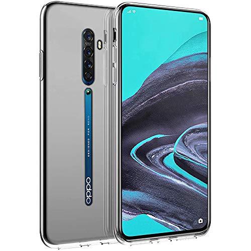 PaceBid Oppo Reno 2 Hülle Hülle, Crystal Clear Transparent Handyhülle Cover Soft Premium TPU Durchsichtige Schutzhülle für Oppo Reno 2