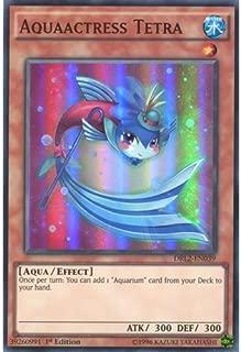 YuGiOh : DRL2-EN039 1st Ed Aquaactress Tetra Super Rare Card - ( Dragons of Legend 2 Yu-Gi-Oh! Single Card ) by Deckboosters