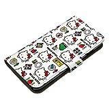 Xperia XZ1 SO-01K ケース [デザイン:14.おもちゃパターン/マグネットハンドあり] ハローキティ Hello Kitty サンリオ グッズ キティちゃん エクスペリア so01k 手帳型 スマホケース スマホカバー 手帳 携帯 カバー