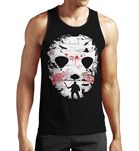 mycultshirt Crystal Lake Tank Top Jason Maske Eishockey Mask Horror Halloween