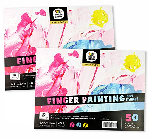 Finger painting sketch pad