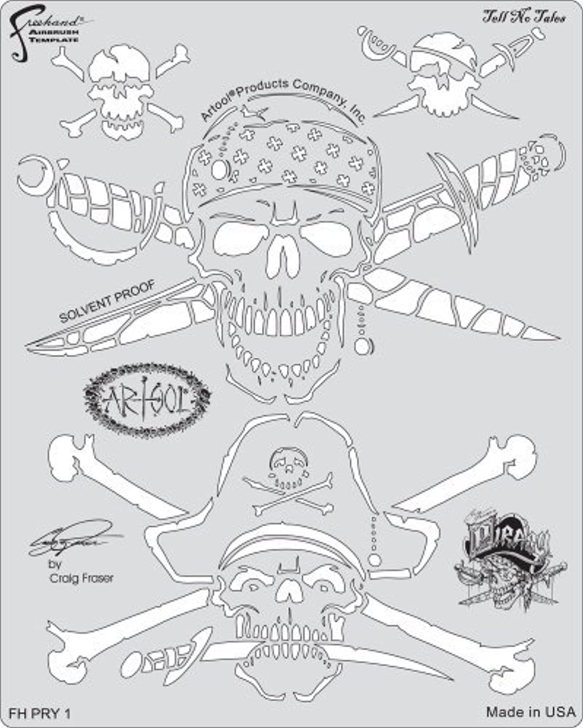 Unbekannt Artool Freehand Airbrush Templates, Tell No Tales Template by Iwata-Medea