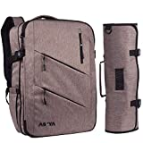 Asaya Chef Knife Backpack with 20 Pocket Knife Roll Bag - Over 30 Pockets for Knives and Kitchen Utensils - Stain Resistant Waxed Nylon - Padded for Extra Protection - Knives Not Included (Brown)