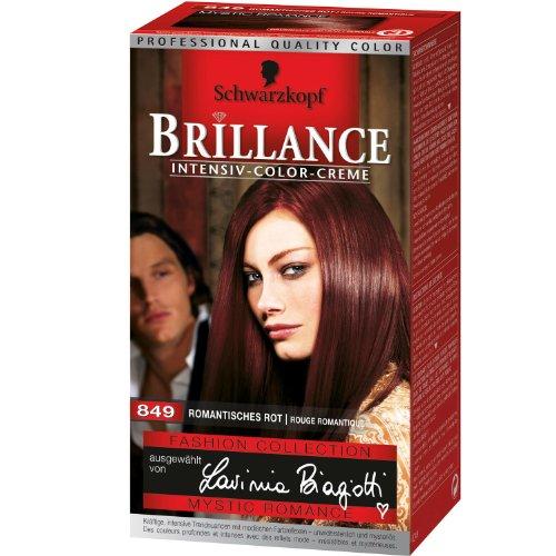 2 x Schwarzkopf Brillance 849 / romantisches Rot/ Haarfarbe/ Coloration/ Intensiv-Color-Creme