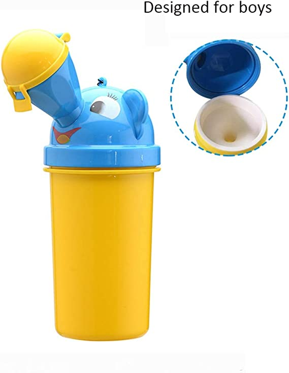 Cute Baby Portable Urinal Travel Car Toilet Kids Vehicular Potty For Boy OQ