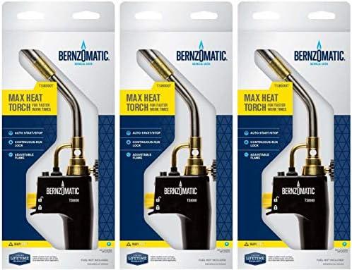 New Bernzomatic TS8000BZKC Max Heat Premium Trigger-Start Torch Kit