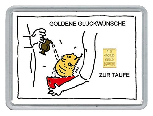 1g Goldbarren Feingehalt 999,9 in einer Kapsel mit Motiveinleger
