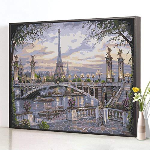 EUKK DIY Digital Oil Painting Bedroom Coloring and Coloring Painting Hand-Painted Oil Painting Decorative Painting