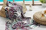 Burrito Blanco Pareo para Playa 199 | Toalla Pareo con Diseño Tropical Algodón 100% con Reverso de Rizo con Microfibra de 90x165 cm, Color Azul, Granate y Amarillo