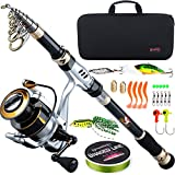 Best Spinning Rods - Sougayilang Portable Fishing Rod Reel Combos Telescopic Fishing Review