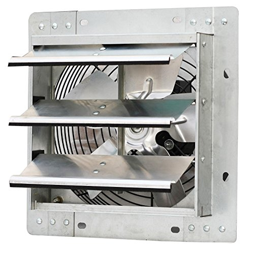 Iliving ILG8SF10V Wall-Mounted Variable Speed Shutter Exhaust Fan, 10""