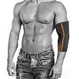 ZSZBACE Elbow Brace Compression Sleeve - Elbow Sleeve Support for Workouts, Weightlifting, Arthritis, Tendonitis, Tennis and Golfer's Elbow(1 Pair) (Grey, L)