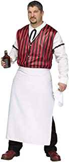 Fun World Wild West Saloon Keeper Costume Mens Adult Western Bartender Standard Plus Size