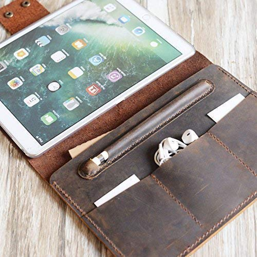Personalized 2019 iPad mini/air/Pro 9.7/12.9 leather cover portfolio apple pencil holder iPad cover case for New iPad 9.7 / Pro 10.5/12.9 Luxury Leather portfolio Cover