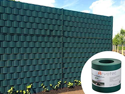 Koll Living Sichtschutz grün, 25 Meter - zur Anbringung an Doppelstabmatten - Lärm-, Sicht- & Windschutz - einfache Montage, ohne Werkzeug - 1,1 mm Stärke statt der üblichen 1,0 mm - Made in Germany