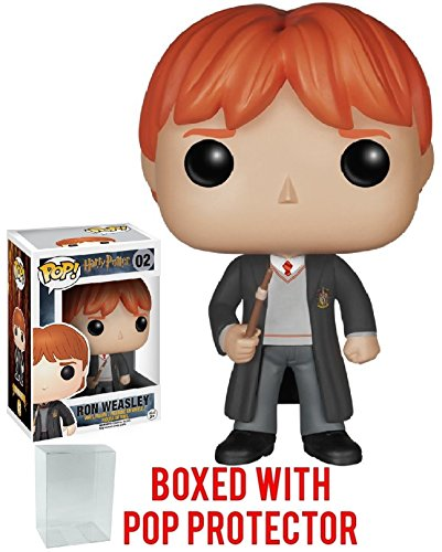 Funko Pop! Movies: Harry Potter - Ron Weasley #02 Vinyl Figure (Bundled with Pop Box Protector Case) image