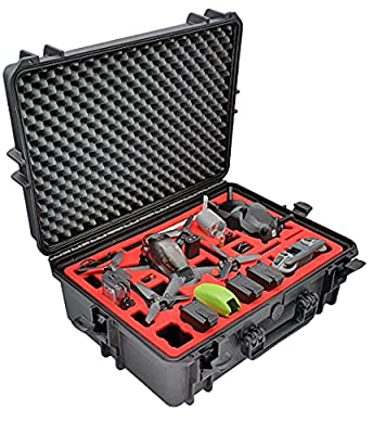 Professional Carrying Case for DJI FPV Combo Also with Bracers - Fly More Set - Carrying Case - Made in Germany