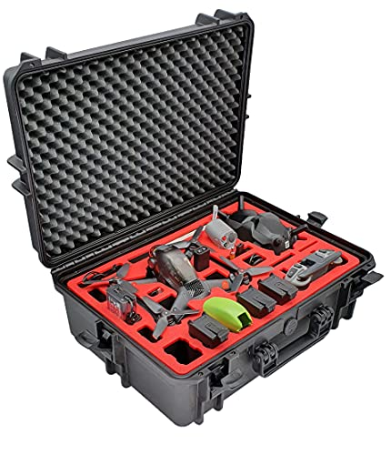 Professioneller Transportkoffer für DJI FPV Combo - Fly More Set - Explorer Edition - Auch DJI Schutzstreben / Bracers - Made in Germany