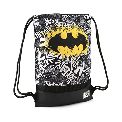 Karactermania Batman Tagsignal-Storm Drawstring Bag Turnbeutel, 47 cm, Grau (Grey)