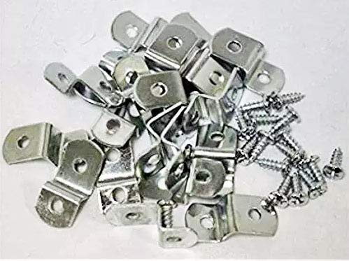"""Extra Heavy Duty 1/4"""" Canvas Offset Clips with Screws 10 Pack"""