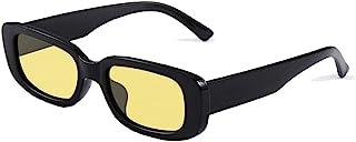 نظارات شمسية مستطيلة صغيرة للنساء UV 400 Retro Square للقيادة