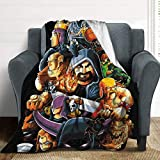HelloMars Blankets Clash of Fantasy Clans Flannel Throw Blankets Ultra-Soft Woolen Blanket for Couch & Bed